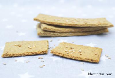 crackers de avena y tahín